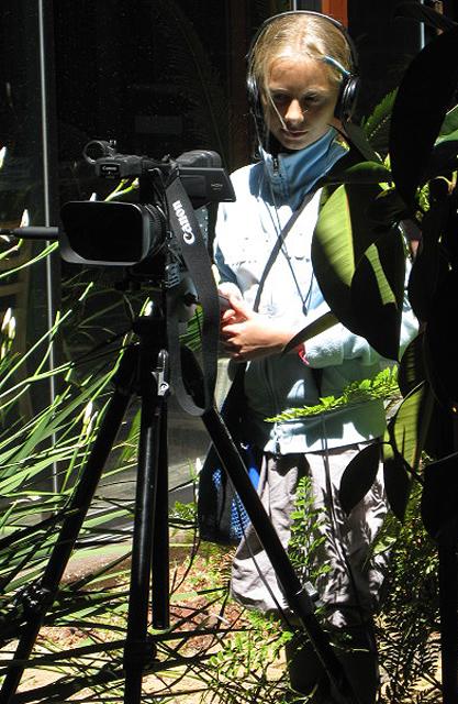 TEEN MEDIA CAMP 2009 PICS. Cassie Fox-Mount shoots an interview at